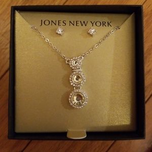 Jones New York Earrings AND Necklace